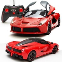 megastar 1:16 Sports Car with Remote Opening and Closing Doors Rechargeable Racing Car red(Red)