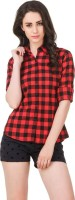 G.S.A ENTERPRISES Women Checkered Casual Shirt
