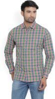 United Colors of Benetton Men's Checkered Casual Spread Shirt