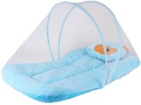 BamBino baby bedding set with protective mosquito net, cute pillow and folding velvet mattress, Standard Crib (Velvet with soft cushioning for maximum comfort and sound sleep, SkyBlue) BINO/MN/06 Standard Crib(Velvet with soft cushioning for maximum comfort and sound sleep, SkyBlue)