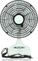 """AlexVyan White Ak-8008 8""""8 inch 5 Blade Rechargeable ( Battery Included) AC/DC Table Fan with LED Light Dual Speed Mode and Solar charging option 5 Blade Table Fan 5 Blade Table Fan(Black, White)"""