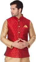 Vastramay Sleeveless Self Design Men Jacket