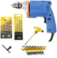 ISC Electric Simply 10mm Drill Machine With Drill Bit Set T-Bar Screwdriver Set Pistol Grip Drill(10 mm Chuck Size)