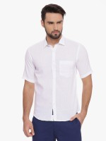 CAVALLO by Linen Club Men's Solid Casual Shirt
