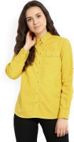 Wills Lifestyle Women's Solid Casual Spread Shirt