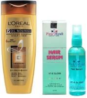 PINKROOT Hair Serum 100ml, L'OREAL PARIS SHAMPOO 175ML 6 OIL NOURISH NOURISHING SHAMPOO SCALP + HAIR(2 Items in the set)
