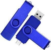 Pankreeti Swivel OTG 32 GB Pen Drive(Blue)
