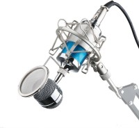 ALONZO Professional Studio Recording Condenser Microphone, Bm3000 with shock mount Great Microphone(Blue)