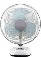 """Mezire SL-2912 AC/DC 12"""" Oscillating Rechargeable Wall Plus 3 Blade Table Fan(White) 3 Blade Table Fan(Multicolor)"""