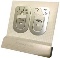 flintstop Book mark set of 2 Metal Bookmark(Movies/Music/TV Series, Silver)