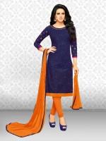 Divastri Cotton Embroidered Salwar Suit Dupatta Material(Un-stitched)
