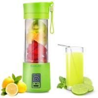 EASELIFE Premium Quality USB Peronal Portable Blender Bottle Juicer, Personal Size Rechargeable Juice Blender and Mixer, 380ml Fruit Mixing Machine with USB Charger and Power Bank, Upgraded 2 Sharp Blades for Superb Mixing { UPGRADE MODEL } 1 Juicer(Multicolor, 1 Jar)