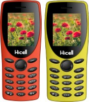Hicell C1 Tiger Combo of Two Mobiles(Orange & Yellow)
