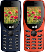 Hicell C1 Tiger Combo of Two Mobiles(Blue & Orange)