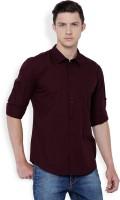 Highlander Men's Solid Casual Brown Shirt