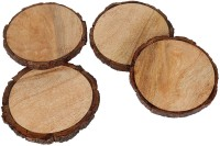 NikkisPride Round Wood Coaster Set(Pack of 4)