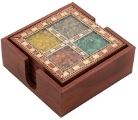 NikkisPride Square Wood Coaster Set(Pack of 4)