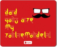 Indigifts Dad Gift, Mouse Pad, Fathers Day Gift, Fathers Birthday Gift, Daddy Birthday, Gift for Papa, Mousepad_S-MPDRBBK01RTMP-DAD18267 Mousepad(Red)