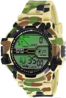 tylor 02 seven light off white colorg day date sport digital Watch  - For Boys
