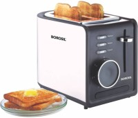 Borosil BTO850WSS21 850 W Pop Up Toaster(Silver and black)