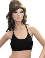 Florentyne by Crossy Sporty Racerback Bra Women T-Shirt Lightly Padded Bra(Black)