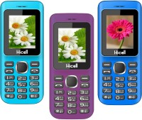 Hicell C5 Pack of Three Mobiles(Blue$Black&Voilet$Black&Navy Blue$Black)