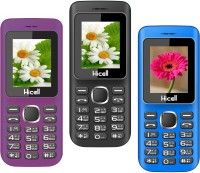Hicell C5 Pack of Three Mobiles(Voilet$Black&Black$Red&Navy Blue$Black)