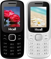Hicell C9 Metro Combo of Two Mobiles(Black$Green&White$Orange)