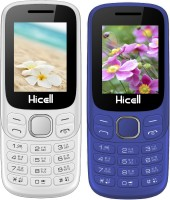 Hicell C9 Metro Combo of Two Mobiles(White$Orange&Dark Blue$Black)