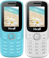 Hicell C9 Metro Combo of Two Mobiles(Light Blue$Black&White$Orange)