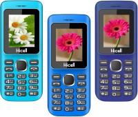 Hicell C5 Pack of Three Mobiles(Blue$Black&Navy Blue$Black&Dark Blue$Black)