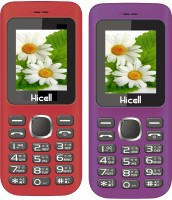 Hicell C5 Combo of Two Mobiles(Red & Black)