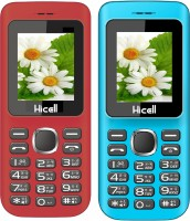 Hicell C5 Combo of Two Mobiles(Red & Blue)