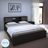 Flipkart Perfect Homes Waltz Engineered Wood King Box Bed(Finish Color -  Wenge)