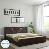HomeTown Bali Bolton Engineered Wood King Box Bed(Finish Color -  Dark wenge)