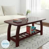 Woodness Malto Solid Wood Coffee Table(Finish Color - Mahogany)