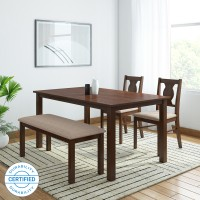 HomeTown Artois Engineered Wood 4 Seater Dining Set