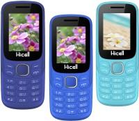 Hicell C9 Metro Pack of Three Mobiles(Dark Blue & Black)