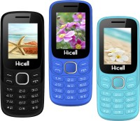 Hicell C9 Metro Pack of Three Mobiles(Black & Dark Grey)