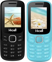 Hicell C9 Metro Combo of Two Mobiles(Black & Dark Grey, Light Blue & Black)