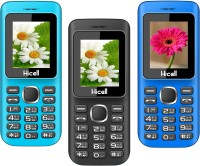 Hicell C5 Pack of Three Mobiles(Blue)