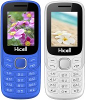Hicell C9 Metro Combo of Two Mobiles(Navy Blue & Black, White & Orange)