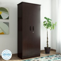 Valtos Engineered Wood 2 Door Wardrobe(Finish Color - Wenge)