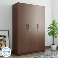Spacewood Optima Engineered Wood 3 Door Wardrobe(Finish Color - Walnut Rigato woodpore)