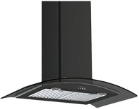 Sunflame Chimney Iris BK BF 60cm 1100m3/hr Wall Mounted Chimney(Black 1100)