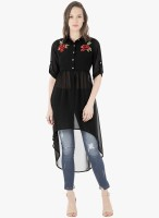 FabAlley Women Embroidered Casual Shirt