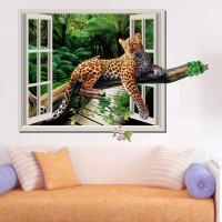 Happy walls Animals Wallpaper(65 cm X 92 cm)