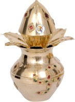 KDT Bindi Brass Kalash(Height: 16 inch, Gold)