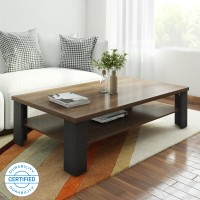 Crystal Furnitech Sigma Engineered Wood Coffee Table(Finish Color - wallnut + wenge)
