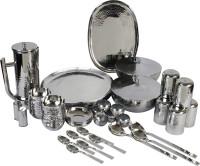 Smartserve Pack of 57 Stainless Steel Groove Dinner Set